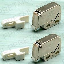 2 x SPRING LOADED MINI TIP CATCH Caravan/Boat Cupboard/Door Cabinet Latch Lock