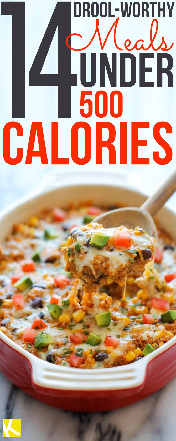 14 Drool-Worthy Meals Under 500 Calories                                                                                                                                                     More