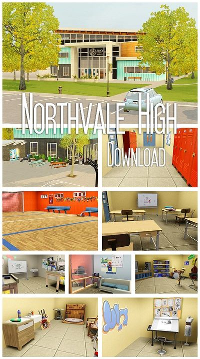 My Sims 3 Blog: Northvale High by Elyf's Simsalabim