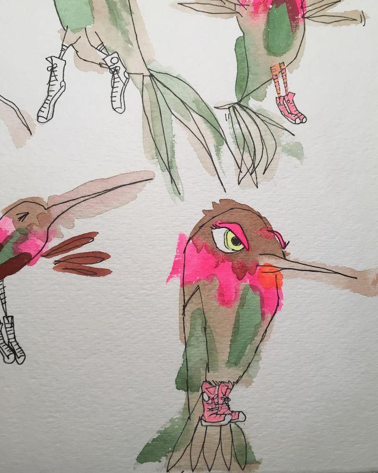 Ali Lamontagne Illustration hummingbird