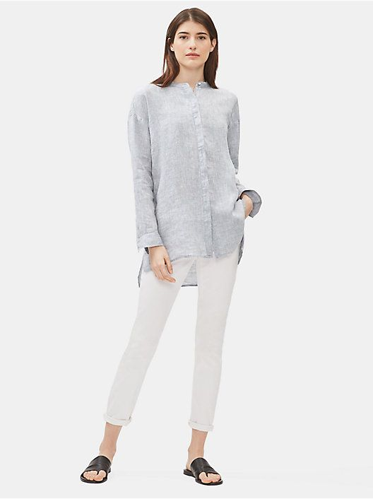 New Arrivals Shop New Styles For Women At Eileen Fisher Eileen Fisher Linen Shirt Dress Healthy Clothes Womens Casual Outfits