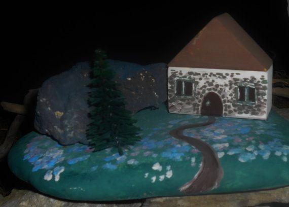 baita su pietra di fiume