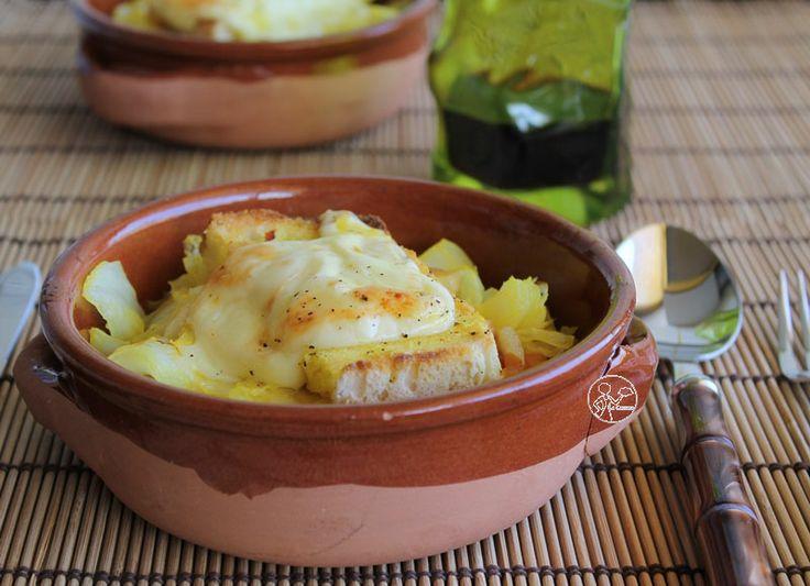 Zuppa di verza, fontina e zafferano- cucina topics aostana