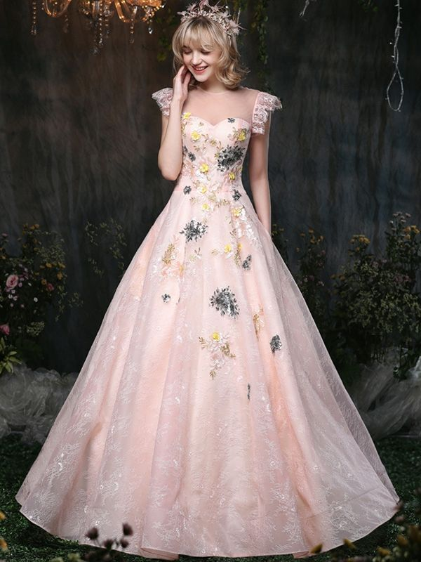 Just Shop for Embroidery Lace Stitching O-Neck Sleeveless Fluffy Princess  Dresses from Jollyhers Online now  All Kinds of Designer Special Occasion  Dresses ... ef3db5700b75