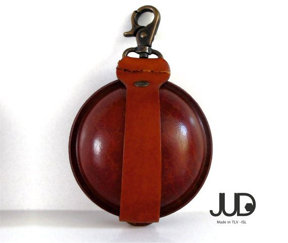 Small leather purse CHRISTMAS SALE ball shape leather by JUDtlv