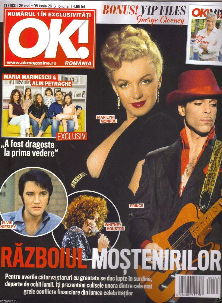 OK! Magazine Romania 8/05 2016 With Cover Marilyn Monroe, Elvis Presley, Prince | eBay