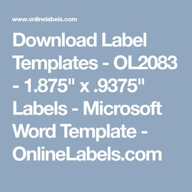label microsoft word