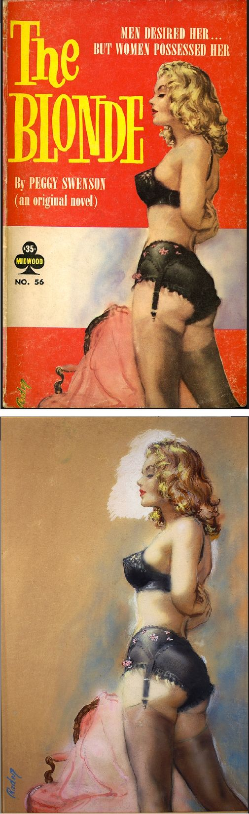 PAUL RADER - The Blonde by Peggy Swenson - 1960 Midwood 56 - cover by commons.wikimedia.org - print by Steve flickr