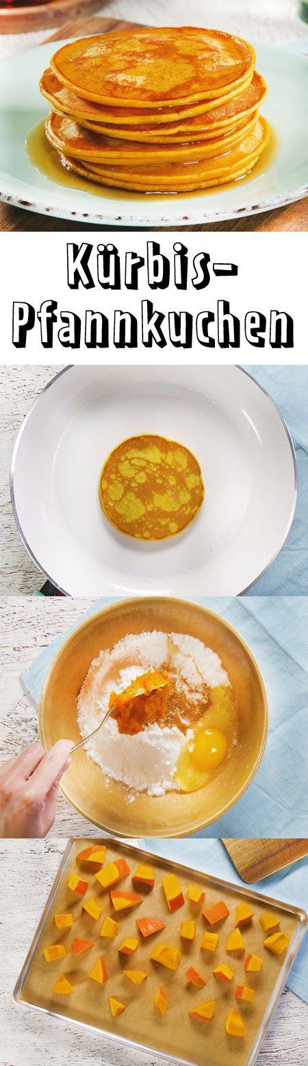 Kürbispfannkuchen muss man diesen Herbst probieren! Mit unserem Rezept für …   – Frühstück – die besten Rezepte