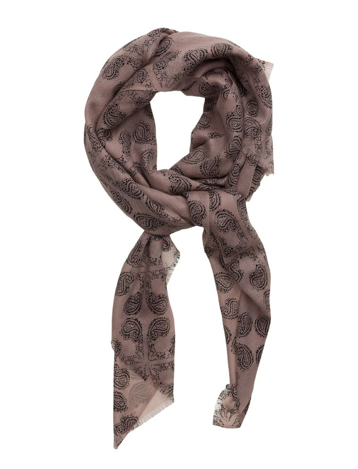DAY - Day Deluxe Mono Patterned Wrap around style Wool creates a breathable and insulating fabric that will keep you warm on cool days. Casual elegance Elegant and feminine