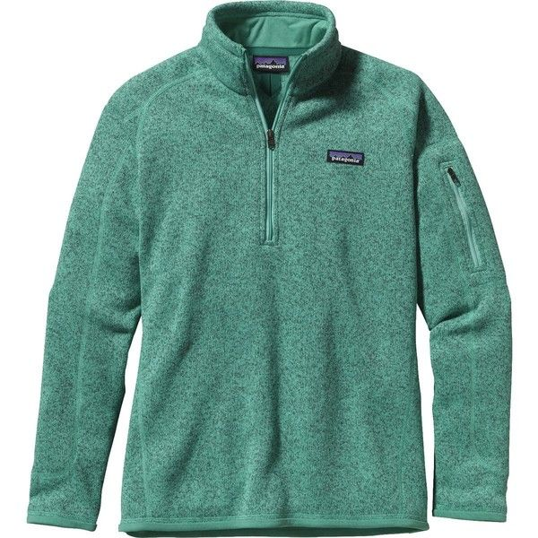Patagonia Better Sweater 1/4-Zip Fleece Jacket ($99) ❤ liked on Polyvore featuring outerwear, jackets, patagonia, fleece pullover jackets, slim jacket, 1/4 zip pullover, patagonia jackets and patagonia pullover