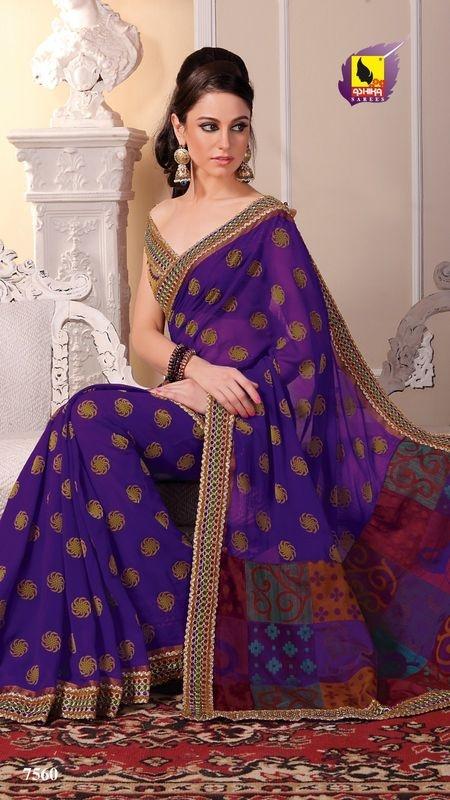 New Indian ethnic Bollywood Sari Designer Fancy Party Saree Wedding 7560 | eBay