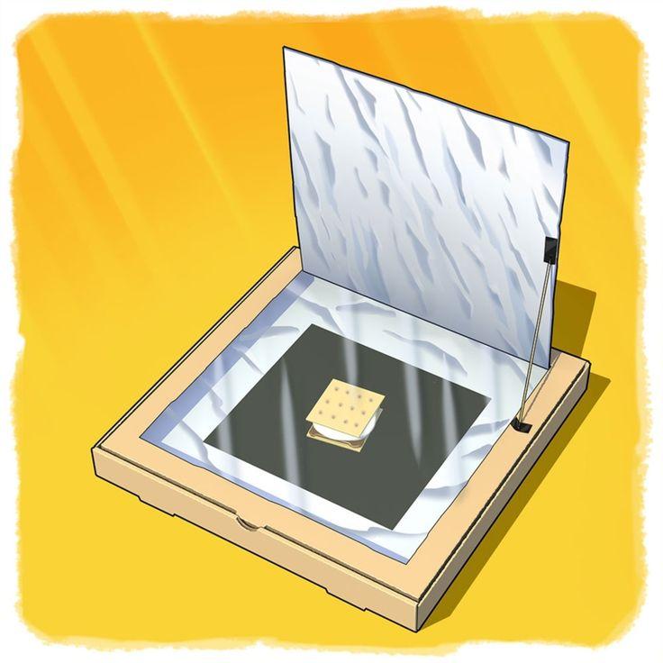 Pizza Box Solar Oven S'mores
