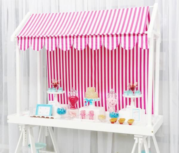 very cute sweets shop table