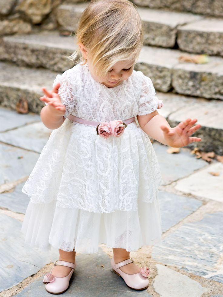 des.#daniella #Lace baby dress with handmade silk flowers #babydress #lace christenings gowns #βαπτιστικό για #κορίτσι #vaptisi #βάπτιση #designerscat #βαπτισηκοριτσιού #βαπτιστικά #christening for #girl, design by #alexandralati, #kindsfashion #luxurydress  https://www.designerscat.com/