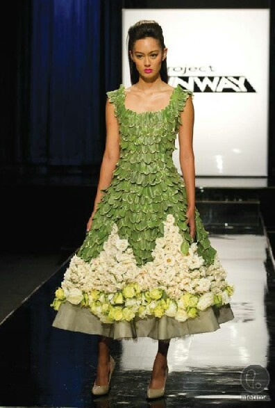 Amazing project runway flower dress