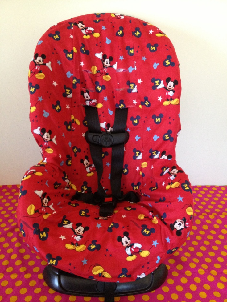 Ready To Ship Toddler Carseat Cover Mickey Mouse Fabric