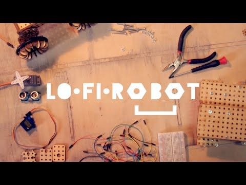 LOFI Robot Robot construction kit based on lasercut wooden blocks, Arduino and Scratch