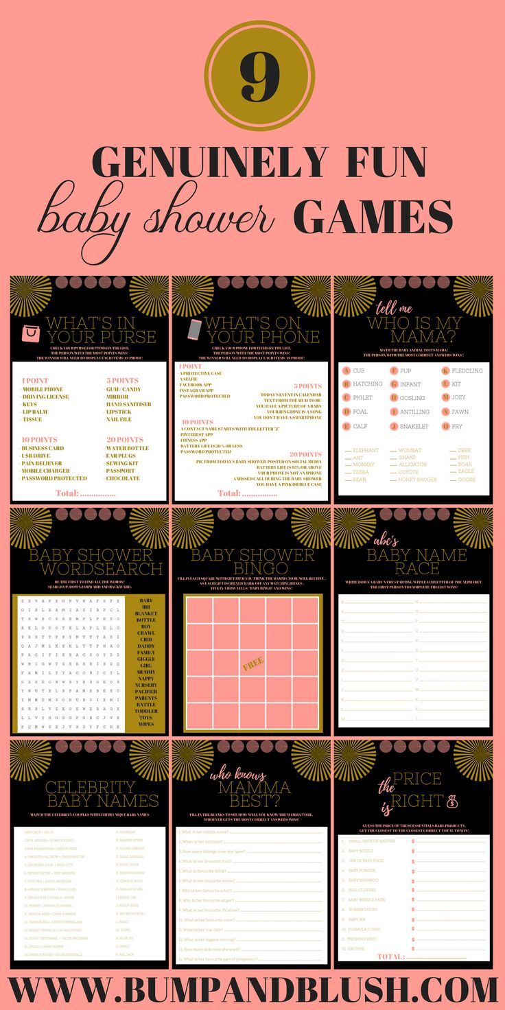 baby shower games printables