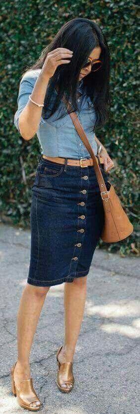 Falda jeans