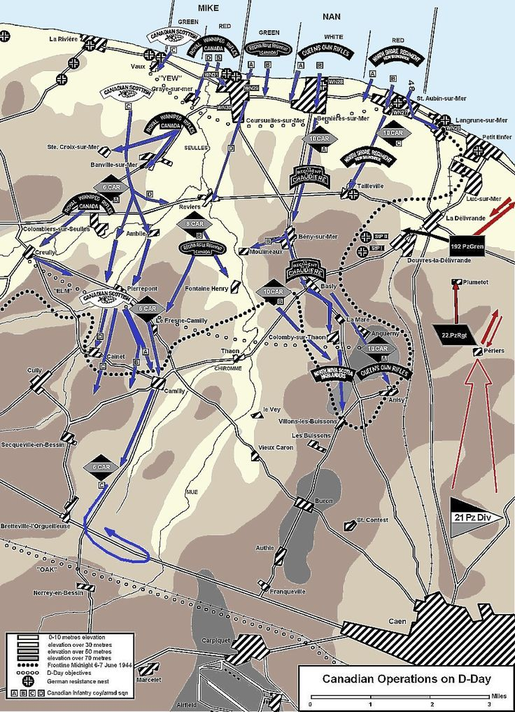Canadian Operations - D Day - Juno Beach. The Canadians penetrated deeper into France on D-Day than the other allies, despite facing the fiercest resistance.