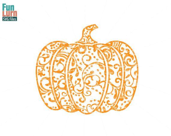 Halloween SVG Zentangle Pumpkin SVG Doodle Pumpkin by FunLurnSVG