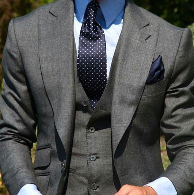 Charcoal Grey 3 Piece Suit