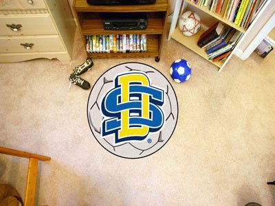 Customize any room in your home or office and show your team pride with this South Dakota State University Soccer Ball by Fanmats. The nylon mat is chromojet painted in the team colors and decorated w