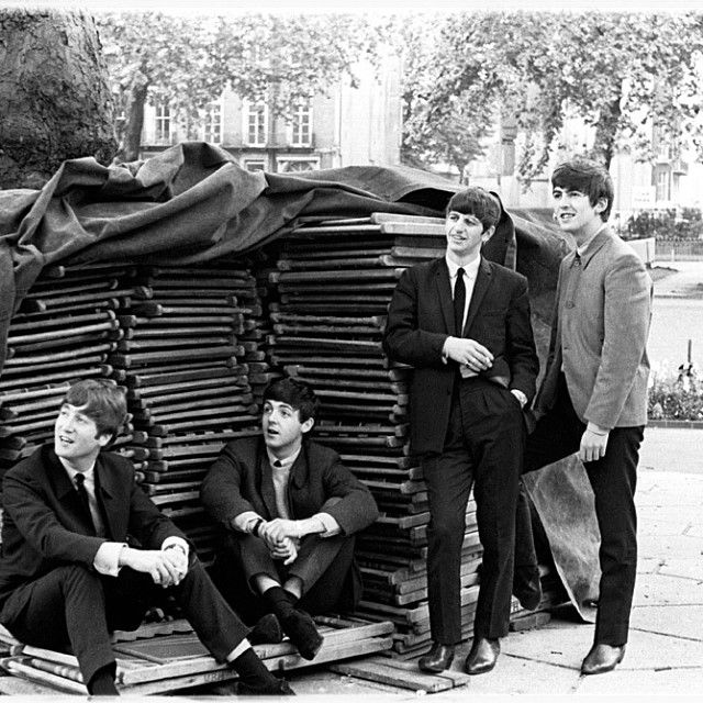 @hardtosayno | July, 1963. Russell Square, London. Photo © Apple Corps Ltd.