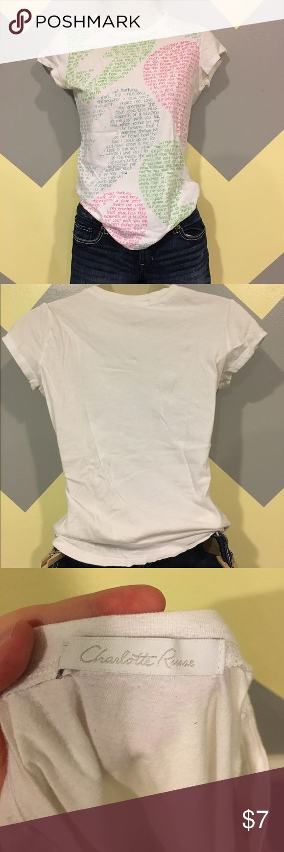🌸Broken Heart Tee - Charlotte Russe Smoke Free. Offers always welcome. Questions answered within 24 hours. 💕 Charlotte Russe Tops Tees - Short Sleeve