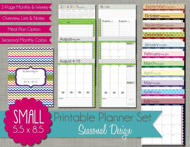 calendar planner template 2015