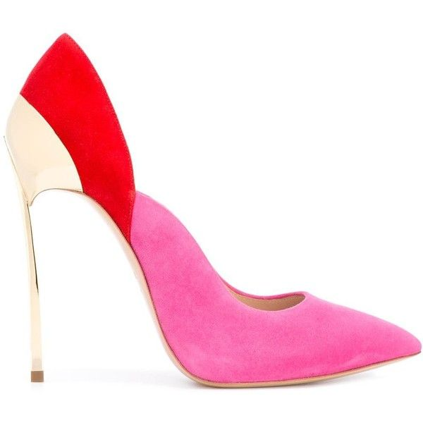 Casadei pointed toe pumps ($875) ❤ liked on Polyvore featuring shoes, pumps, pink pumps, casadei pumps, leather shoes, purple pointy toe pumps and multi colored pumps