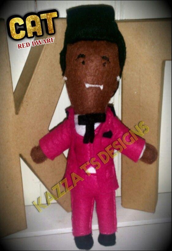Cat from Red Dwarf handmade felt plush doll  #kazzatsdesigns #feltplushdolls #beingcreative #favecharacters #reddwarf