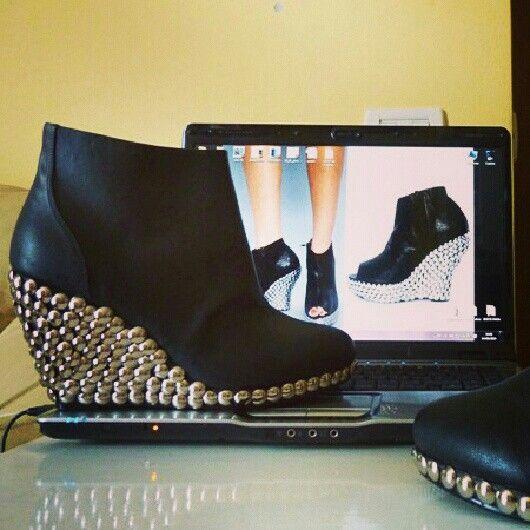 Diy shoes inspo #Jeffrey #Campbell studded