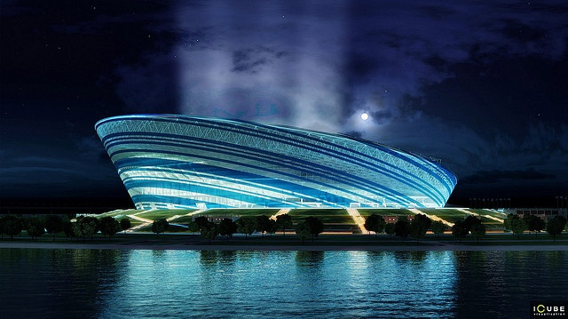 """Zenit"" football stadium in St. Petersburg by sashagolakov, via Flickr"