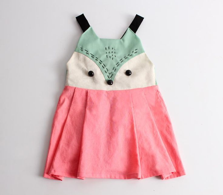 Looking for your next project? You're going to love Girl's suspended skirt with fox face by designer Mijeong Jeong.