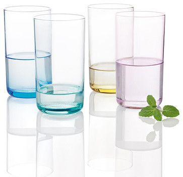 Stelton - Simply Glass 4pc Set - 16.9oz - contemporary - cups and glassware - HORNE
