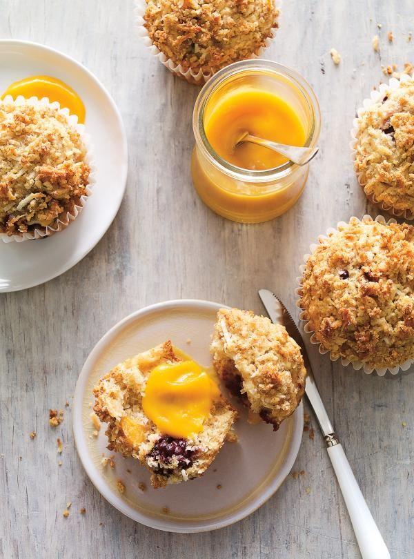 Muffins à la mangue, à la noix de coco et aux mûres |RICARDO
