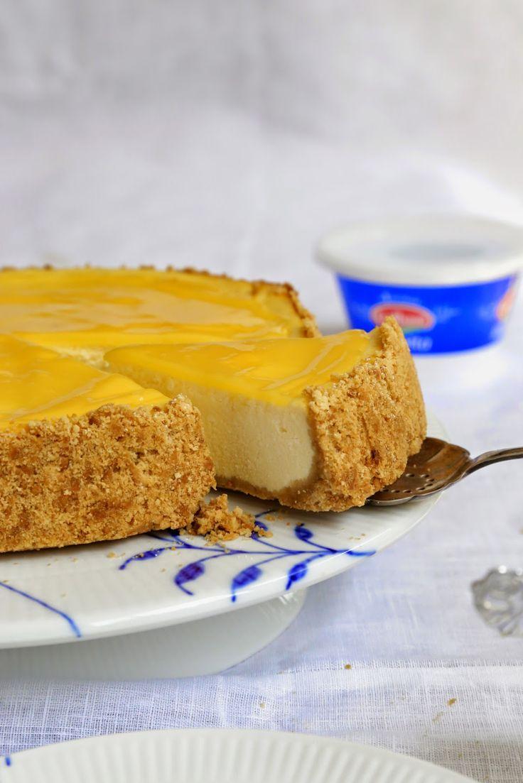 Cheesecake à la ricotta et au lemon curd pour fêter la sortie du e-book Galbani :adoptez la ricotta attitude | On dine chez Nanou