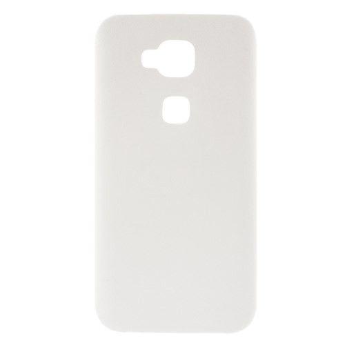 Wit leder look TPU hoesje voor Huawei G8