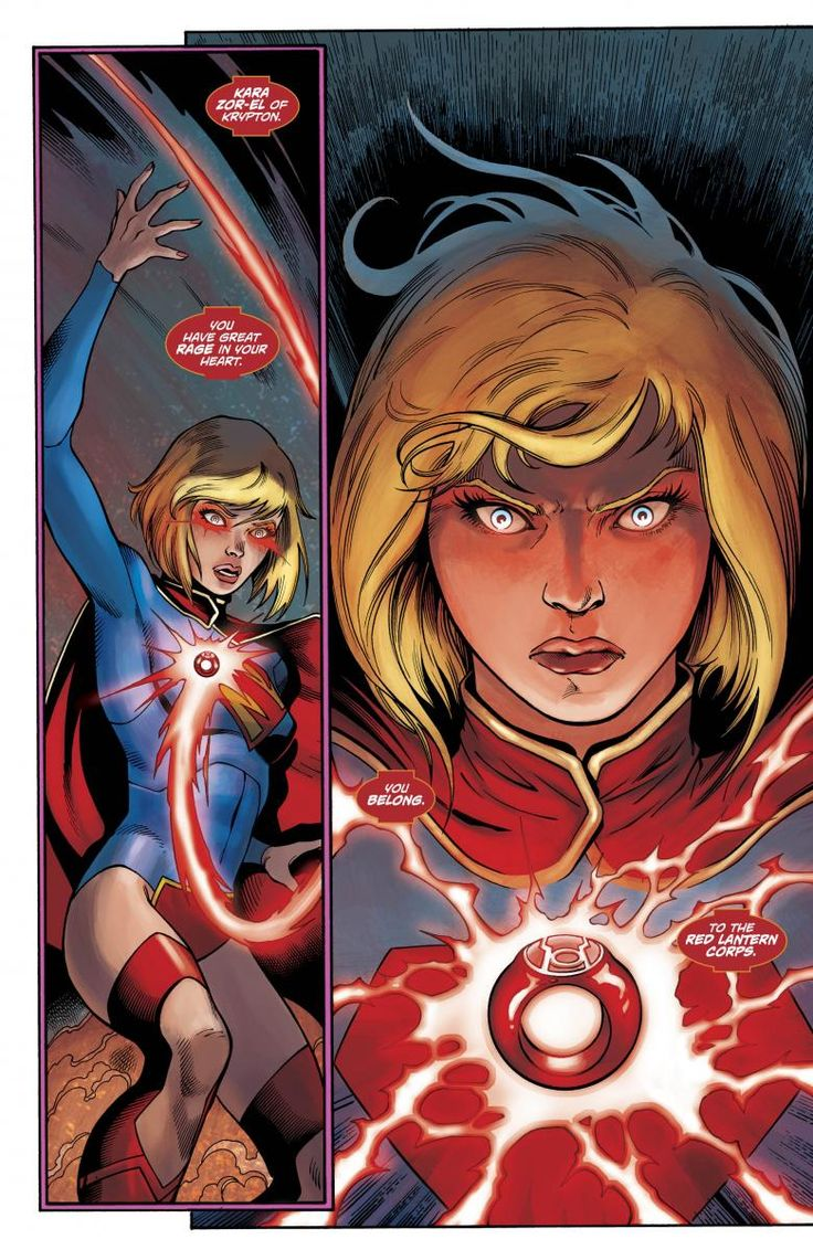 supergirl gets a red lantern ring.
