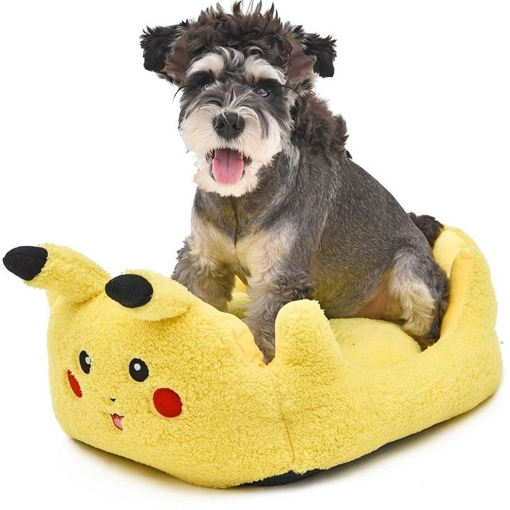 Pikachu Cat & Dog Bed Sofa in 2 Sizes  #PikachuCatDogBedSofaIn2Sizes #PikachuCatBed #PikachuCatSofa #PikachuDogBed #PikachuDogSofa #PikachuPetBed #PikachuPetSofa