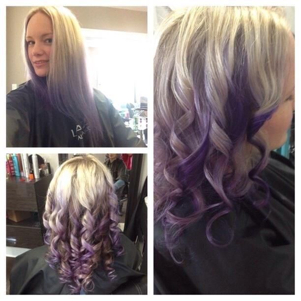 Purple Ombre #hair Studio, Oshawa, Ontario