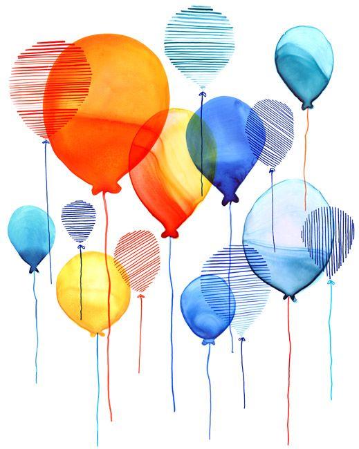 Margaret Berg : birthday / celebrate: Overlapping Balloons
