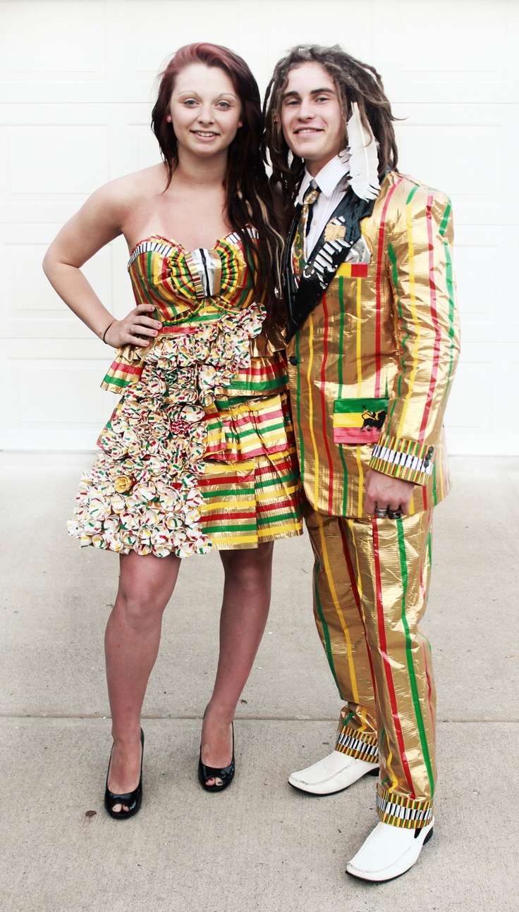 Images of duct tape dresses for sale