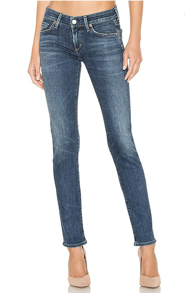 9ca040013832 CITIZENS OF HUMANITY Racer Low Rise Skinny Denim Jeans Cruz Blue 23  228   29