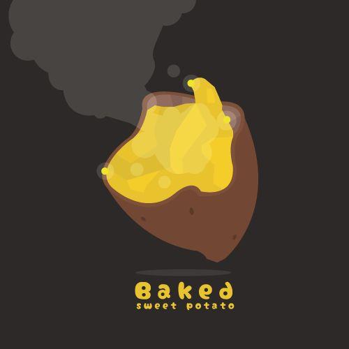 【イラスト】焼き芋【illust】baked sweet potato