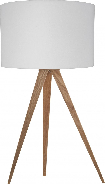 Tafellamp Tripod - Wit - Hout - Zuiver