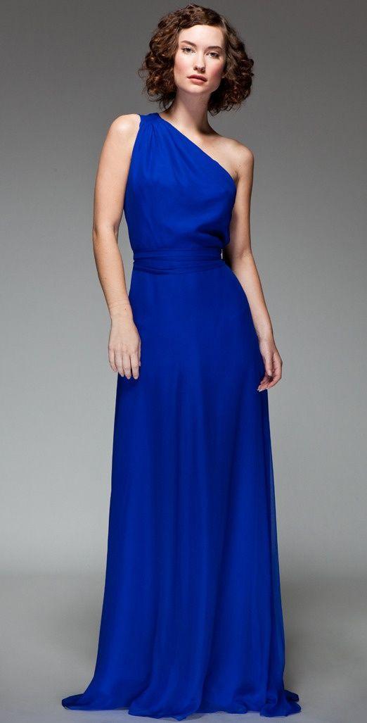 Blue clothes blue dress cobalt blue pinterest for Blue long dress wedding