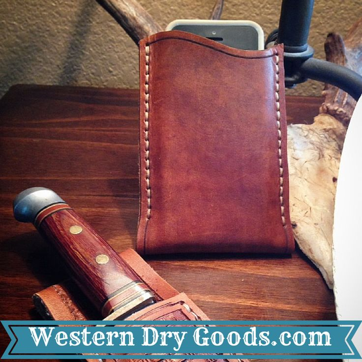 Leather iPhone Case and Custom Leather Knife Sheath on sale at Western Dry Goods.com.